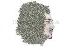 Honingbijen op gezicht van man-140031